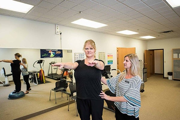 Balance training to prevent falls at Saunders Therapy